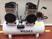 Бесшумный компрессор Pegas PG-1100*2 безмасляный