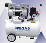Бесшумный компрессор  PEGAS PG-800 Безмасляный