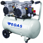 Бесшумный компрессор  PEGAS PG-800*2 безмасляный